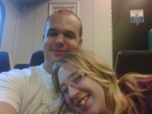 Us on the train